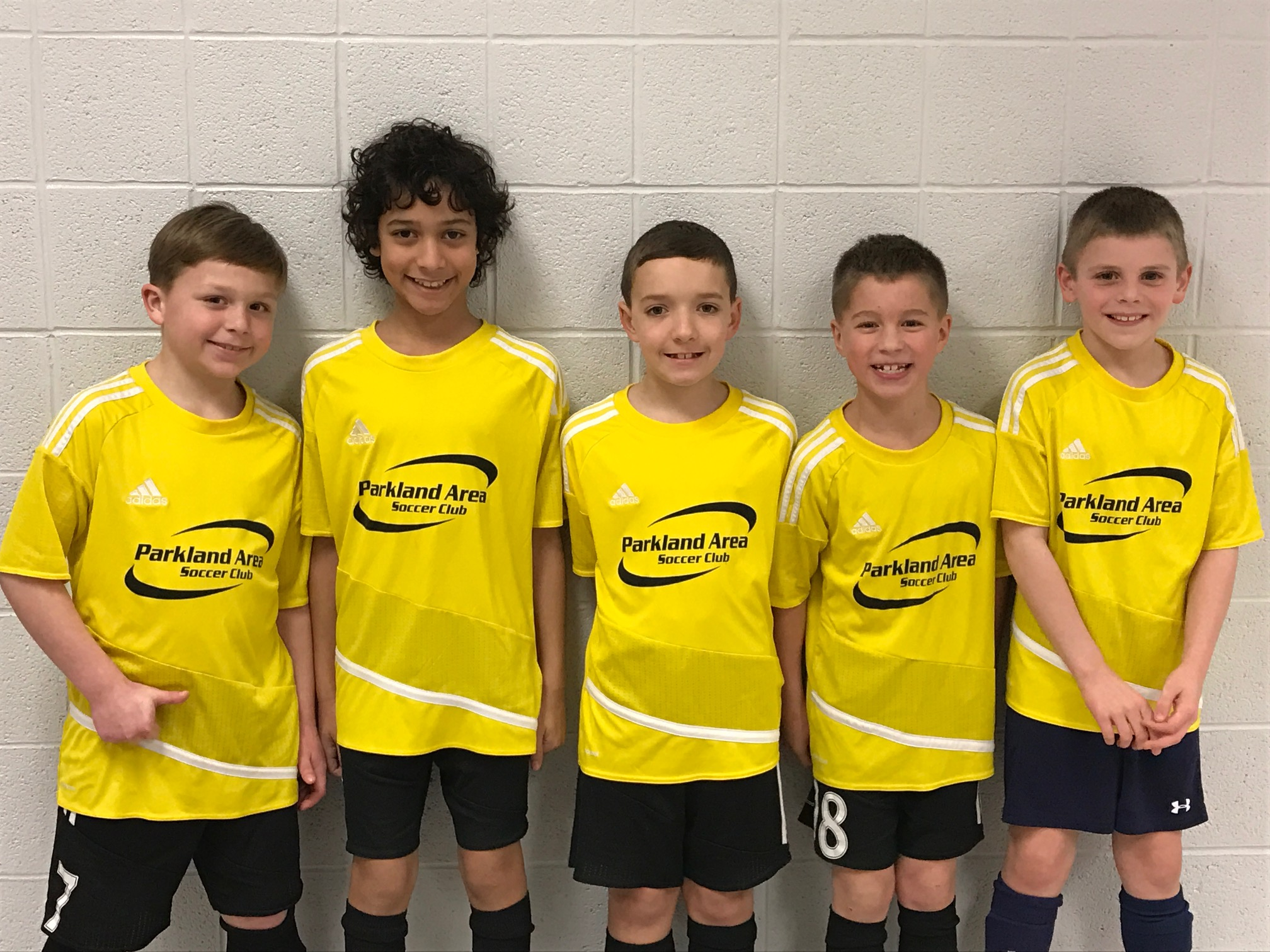 U9 Boys Trojans, winners of their Division at the PHS Indoor 3v3 tournament
